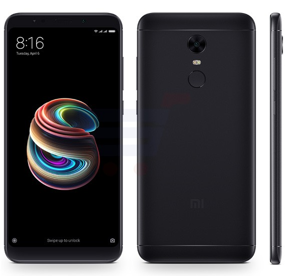 Xiaomi Redmi 5 Plus 4G Smartphone, Android 7.1.2, 5.99 Inch Display, 4GB RAM, 64GB Storage, Dual Camera, Dual SIM - Black