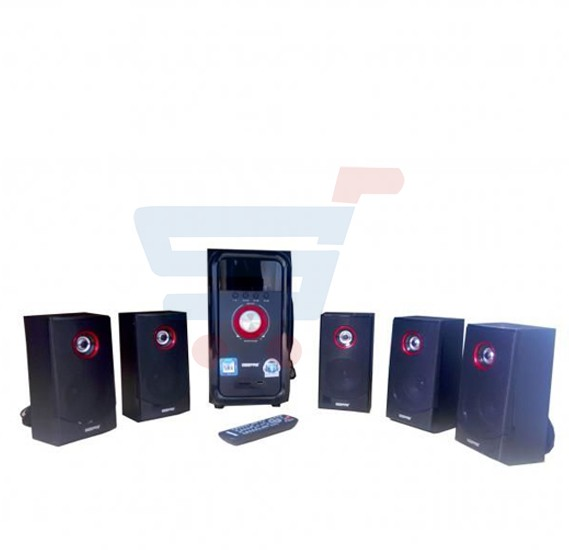 Geepas 5.1 Multimedia Speaker System GMS8526, With FM Bluetooth USB / SD Card Reader