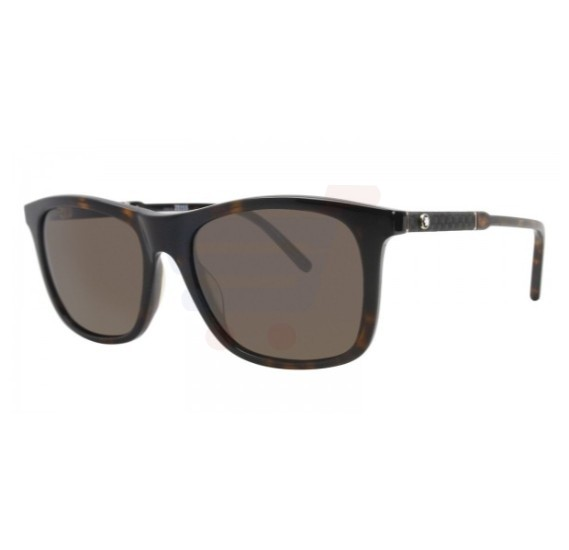 Mont Blanc Round Havana Frame & Brown Mirrored Sunglasses For Men - MB606S-52E