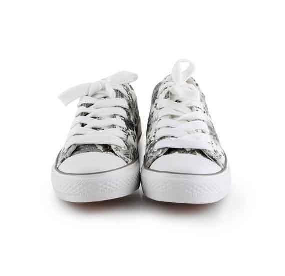 OKKO flower pattern girls sneaker - GH-826, Grey size-36