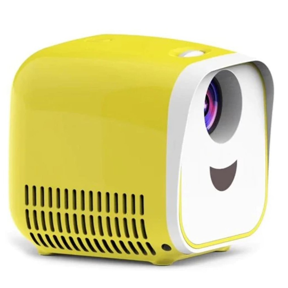 L1 Kids Mini Projector Support Full HD 1080P Children Early Education Projector – White/US Plug