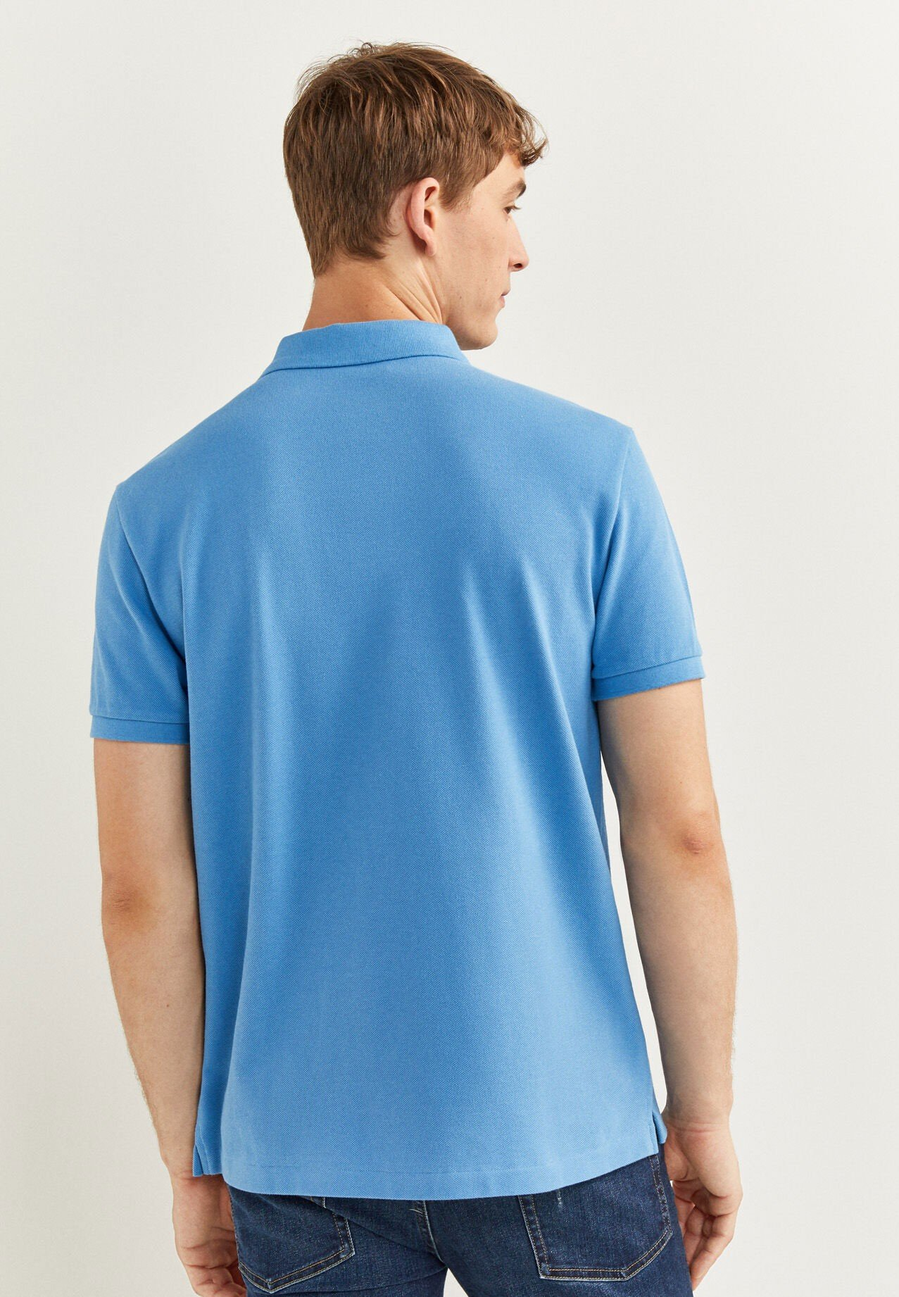 Springfield Fashion Mens Polo T-Shirt Color Sky Blue