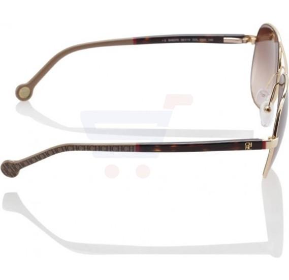 Carolina Herrera Aviator Brown Frame & Brown Mirrored Sunglasses For Women - SHE070-0300