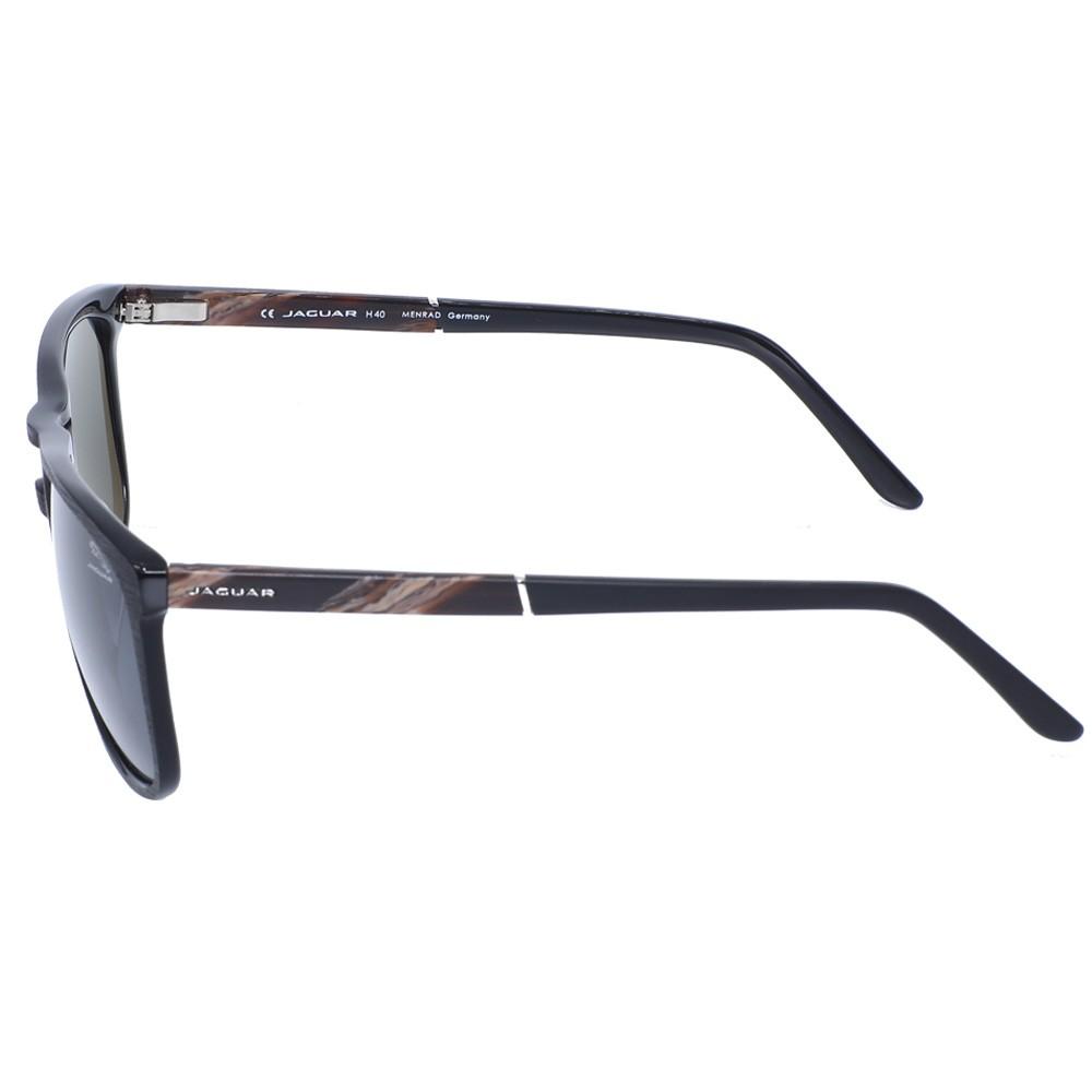 Jaguar 37119 Black Pilot Sunglasses, Size 58