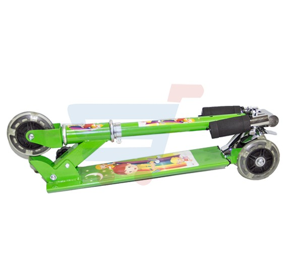 Kids 3 Wheel Scooter With LED Light SC-5307 Green