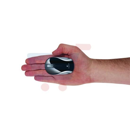 Logitech Wireless Mini Mouse M187,Pocket Size-Black