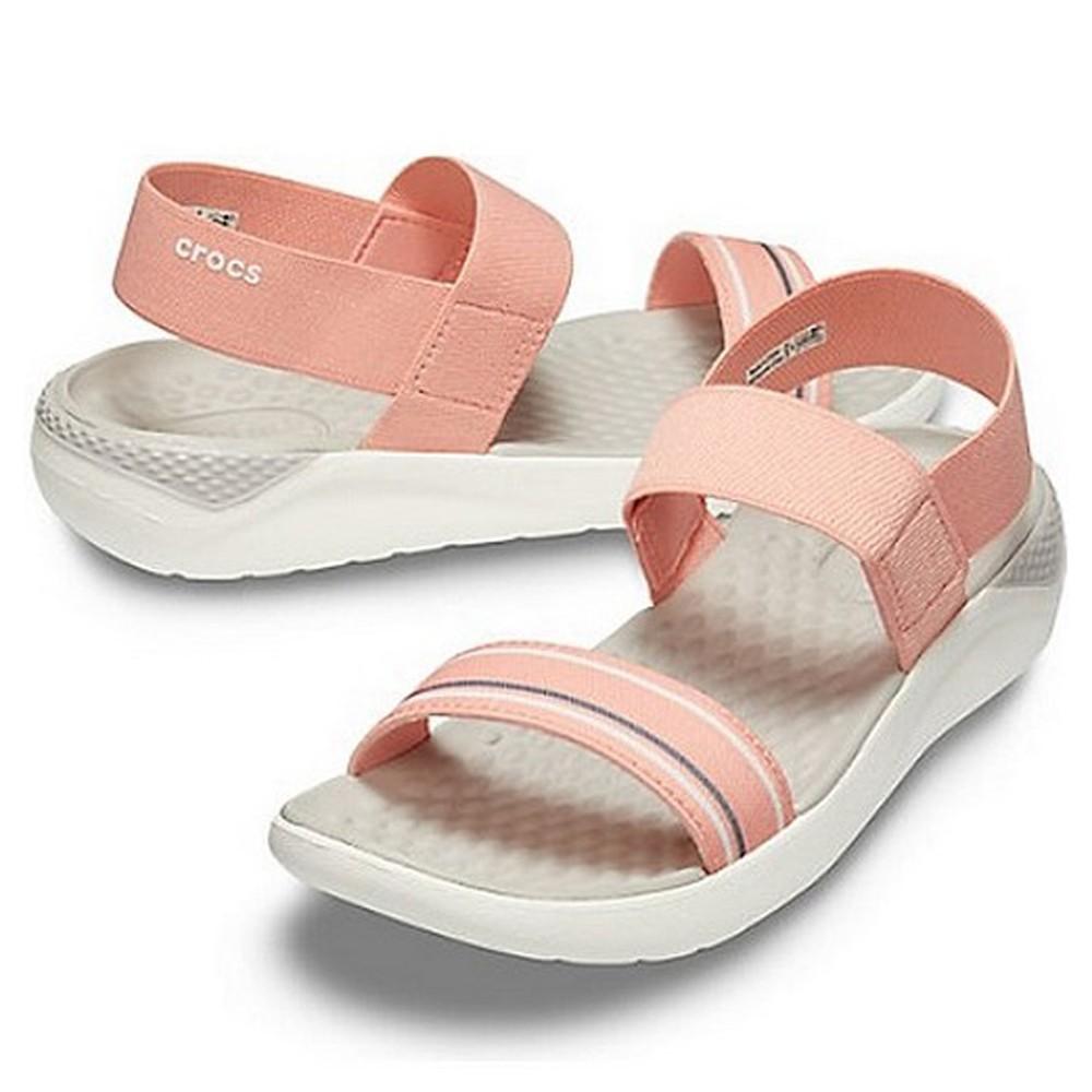 Crocs Womens Clogs Sandals Literide Sandal W MNBL/WHI 205106-4KA, Size 35