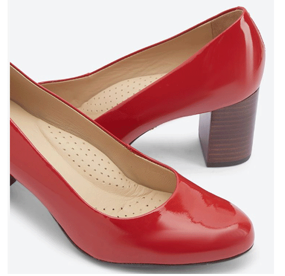 Hush Puppies Ladies Formals Shoes Red Patent Leather, Size 6, H509649