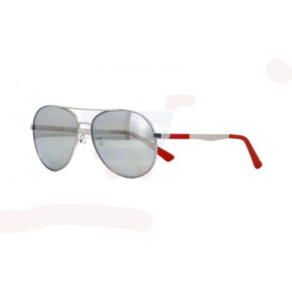 Police Aviator Matte Palladium Frame & Grey With Silver Mirrored Sunglasses For Unisex - SPL344-581X