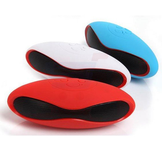Rugby Shaped Mini Super Bass Multi-Color Wireless Bluetooth Speaker With  Micro SD & USB Support