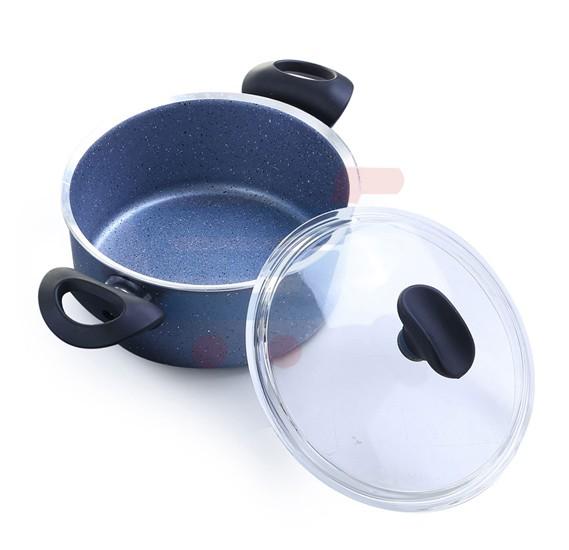 Royalford 26CM Cookware/GlassLid/Granitum - RF7196