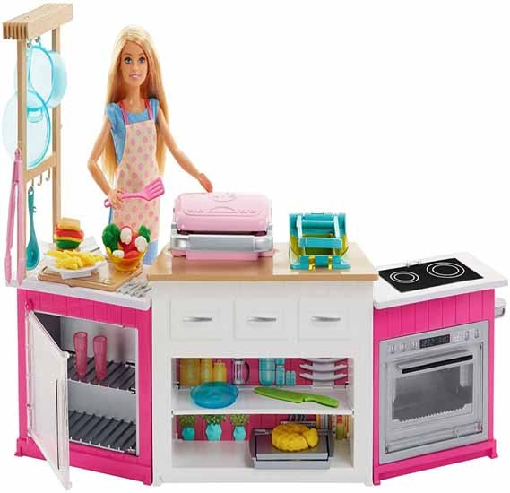 Barbie Doll And The Ultimate Kitchen Playset Frh73