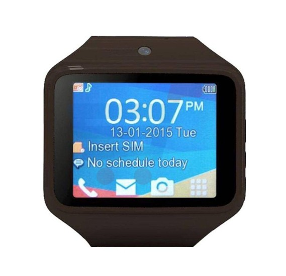 Kenxinda S-Watch 2.0, Bluetooth, FM Radio, Touchscreen Watch - Brown