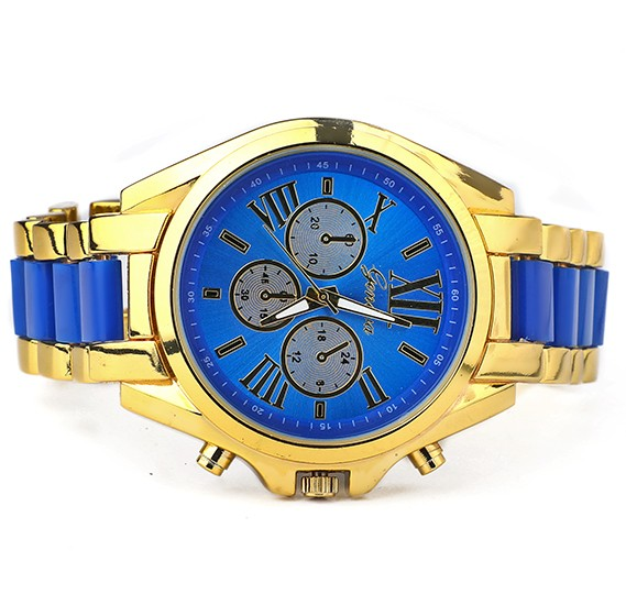 Geneva Analogue Dial Watch - Blue
