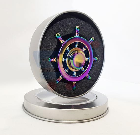 Rainbow Ship steering model Metal Hand Spinner - RSP-4