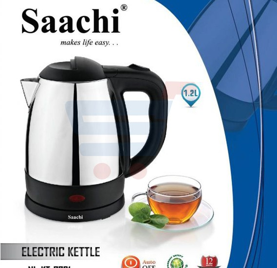 Saachi 1.5 Liter Stainless Steel Electric Kettle Black - KT‐7721B