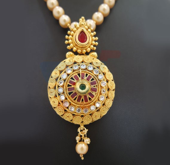 gold eastern set jewellery necklace ladies bridal
