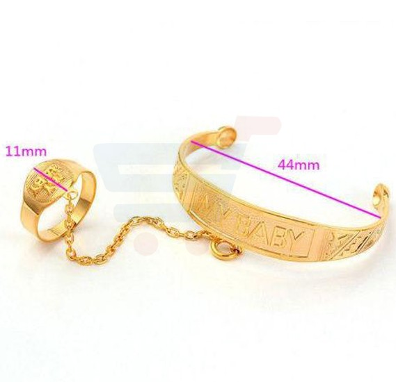 18K Yellow Gold Filled Childrens Cuff Bangle Bracelet