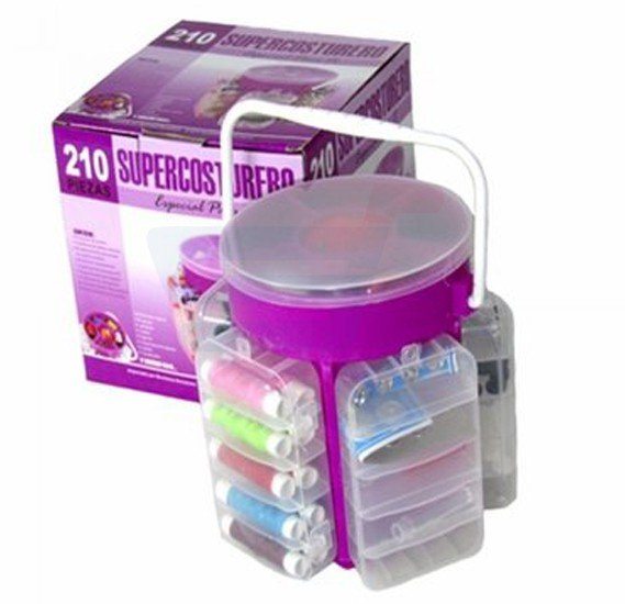 Sewing Kit with Storage Caddy - 210 Pieces