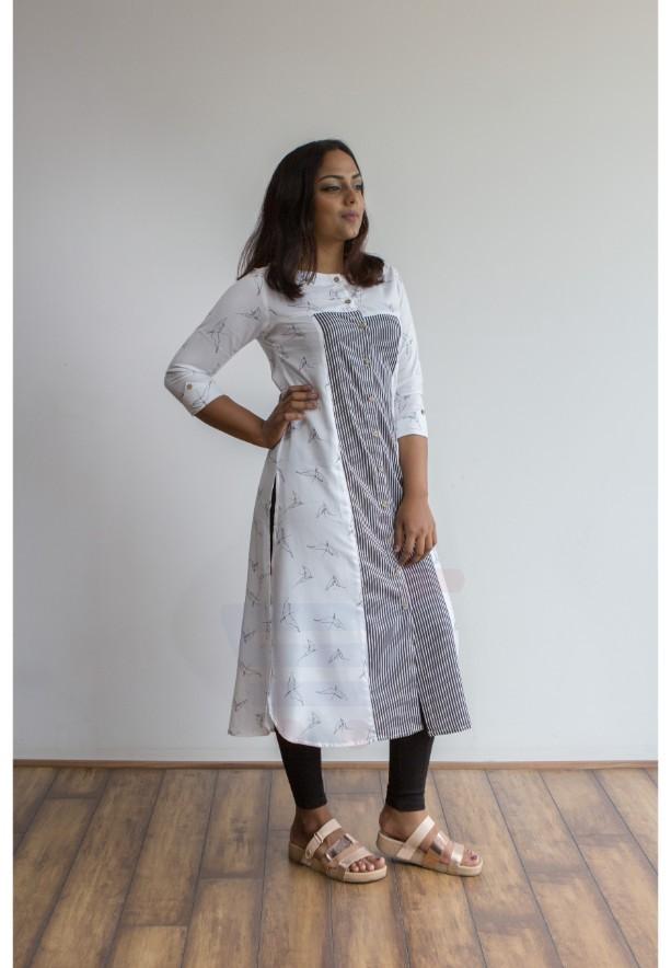 Buy 2 Ruky Fareen Denim Women Long Top Kurti Full Sleeve RF-202,203 and Get RF 204