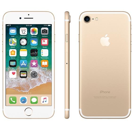 Apple iPhone 7 Smartphone, iOS10, 4.7 Inch Retina HD Display, 2GB RAM, 128GB Storage, Dual Camera - Gold