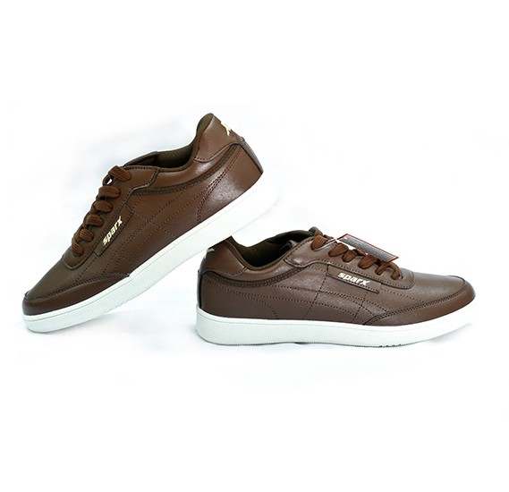 Sparx Brown Gents Casuals Shoes With Bag, SM-334-40