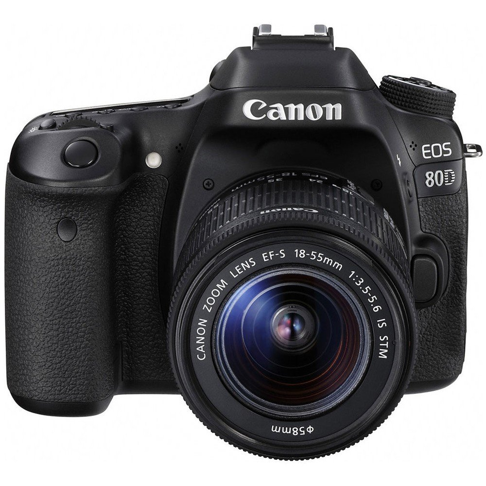 Canon EOS 80D DSLR Camera with 18-55mm IS STM Lens Kit, 24.2 MP, Black