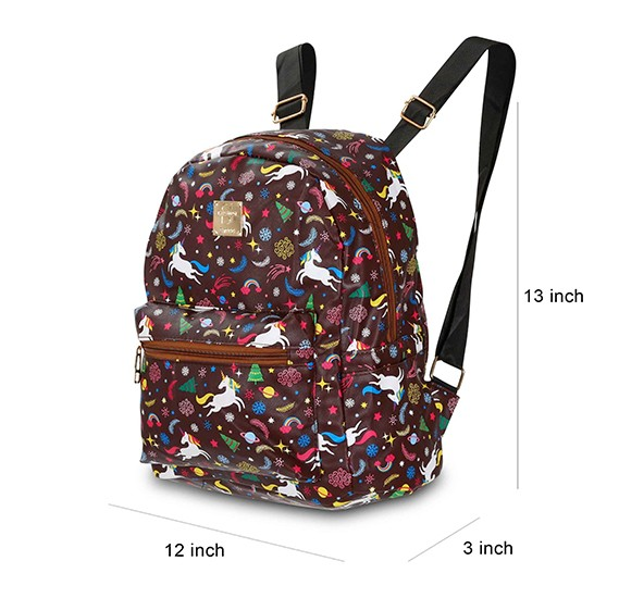 OKKO 2 Pieces Mochila Backpack for Teenagers 13 Inch and 10 Inch , GH-179-7