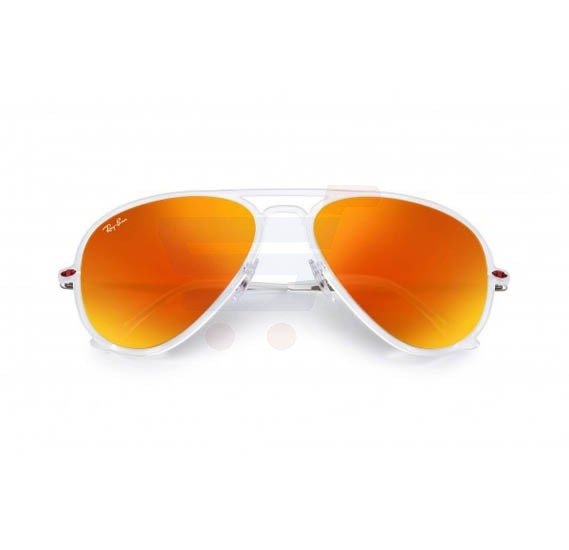 Ray-Ban Pilot Clear Frame & Red Mirrored Sunglasses For Unisex - RB4211-646-6Q-56