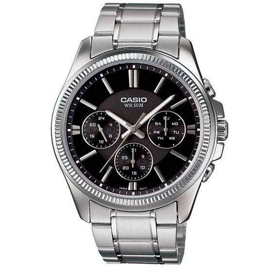 Casio Mtp-1375D-1Avdf Enticer Black Dial Mens Watch