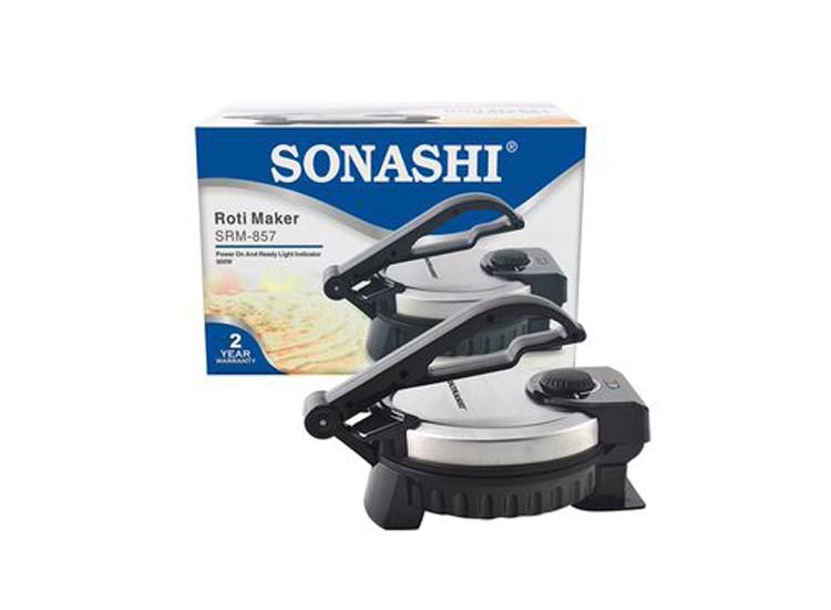 Sonashi SRM-857 Non-Stick Roti/Tortilla Maker, 900w