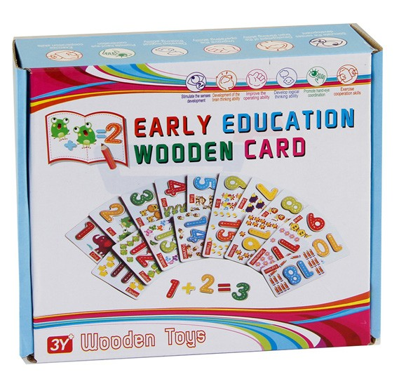 Early Education Wooden Card, 6921