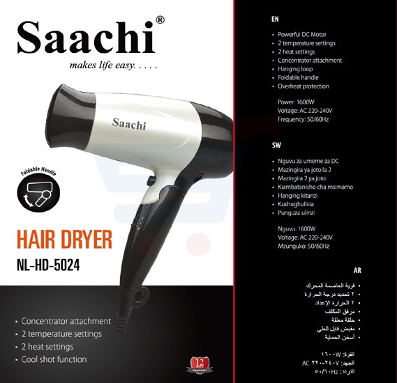 Saachi Hair Dryer NL-HD-5024