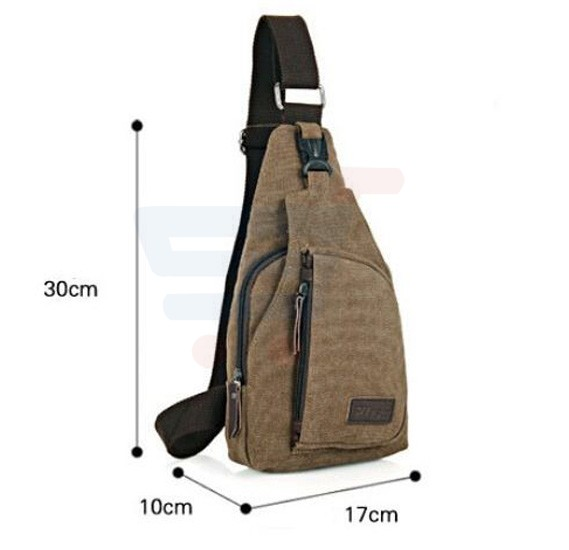 Cross Body travel Bag For Men Khaki