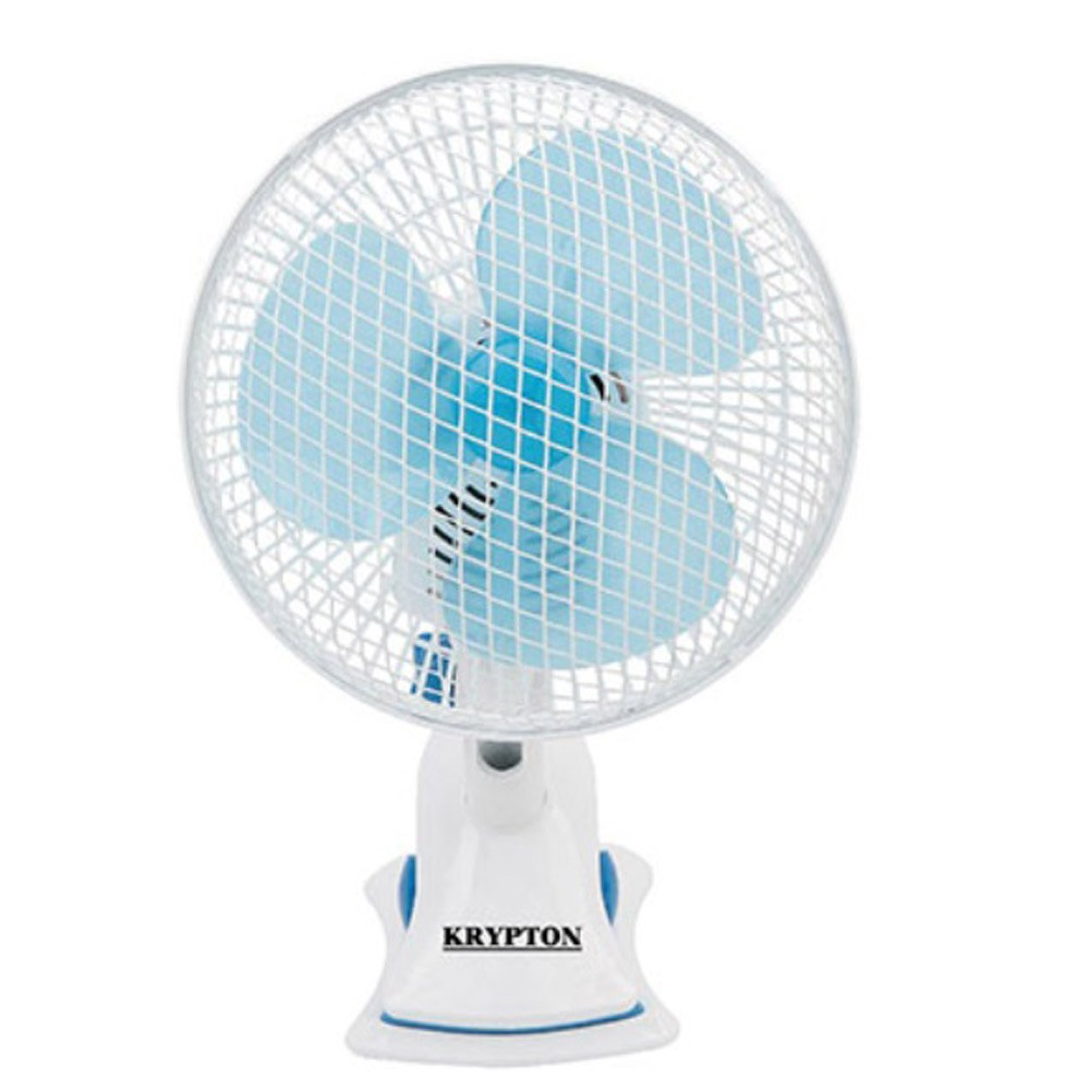 Krypton KNF6116, 8 Inch Table Fan White and Blue