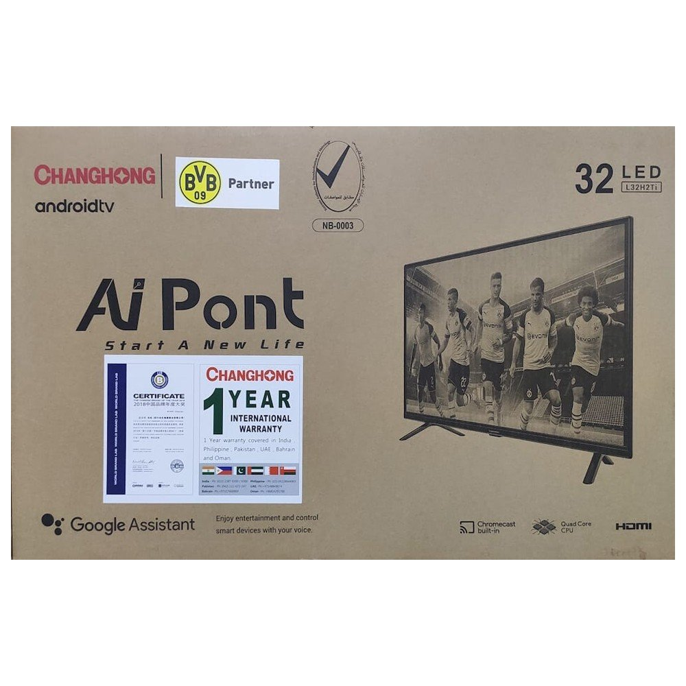 Changhong 32 LED Smart TV Android TV, L32H2Ti