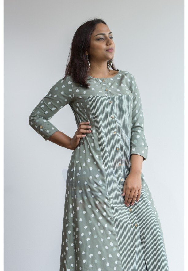 Ruky Fareen Women Long Top Flair Kurti Full Sleeve - RF 207 - XL