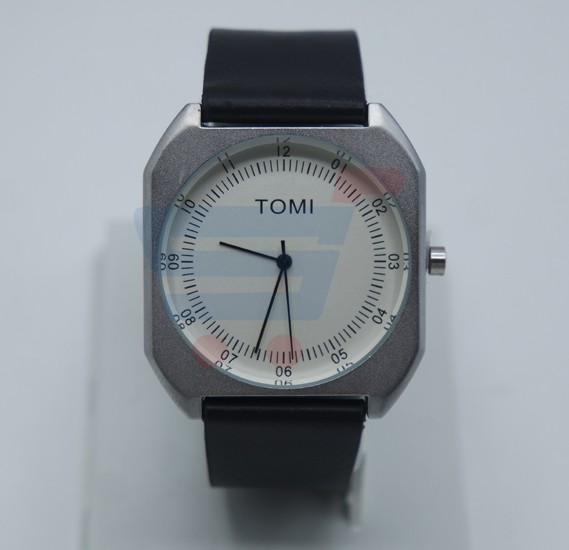 TOMI Luxury Quality Quartz Leather Watch for Women And Men T068, White Black