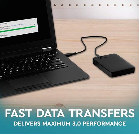 WD 1TB Elements Portable External Hard Drive - USB 3.0 - WDBUZG0010BBK-WESN