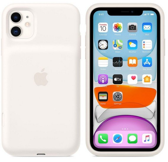 Apple iPhone 11 Smart Battery Case with Wireless Charging - Soft White