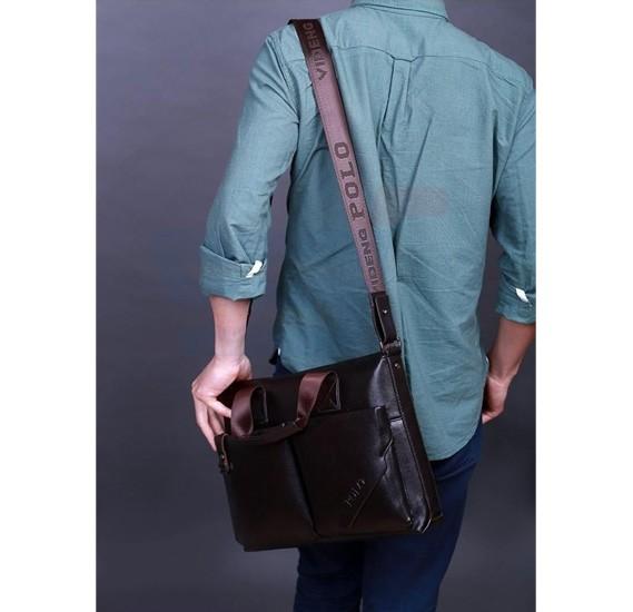 Videng Polo Bag For Men Brown