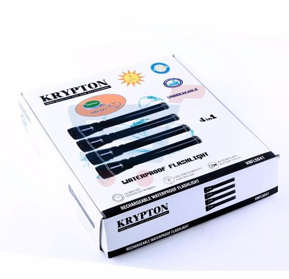 Krypton 4 In 1 Waterproof Rechargeable LED Flashlight KNFL5041