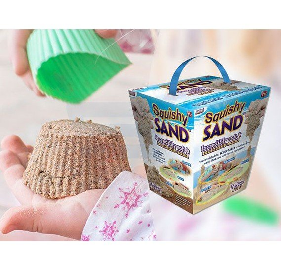 Squishy Sand - Clever sand that does not dry out - the child can play it in the apartment