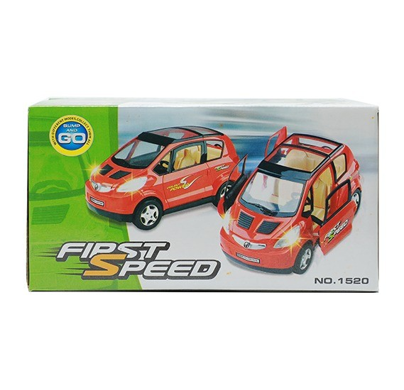 First Speed Humb and Go Tripping Car toy with Bicycle 07-018