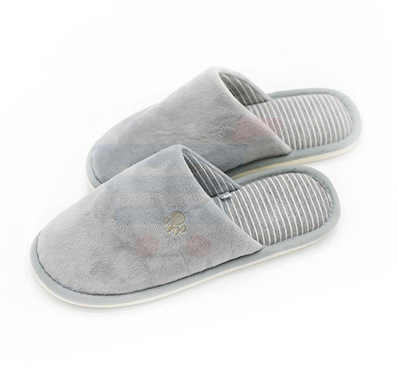 Faux Fur Winter Slipper Grey Color