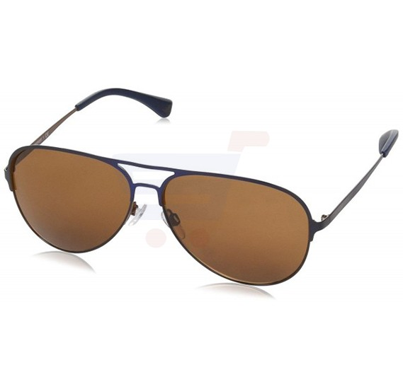 Emporio Armani Pilot Grey Rubber Frame & Brown Mirrored Sunglasses For Unisex - 0EA2032-312973
