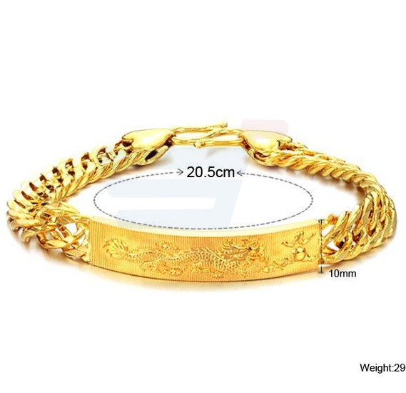 18K Gold Plated Titanium Steel Individual Somero Bracelet For Men - KS177