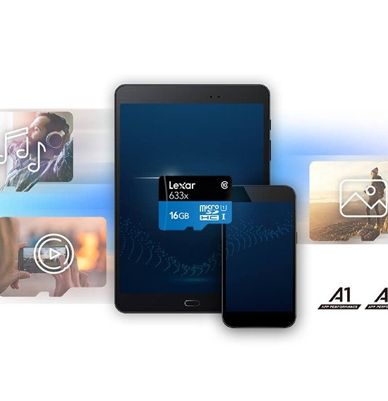 Lexar Micro Sd Cards 633x Micro SDHC/SDXC UHS-I Card 95MBPS - 16Gb ,LSDMI16GBBEU633A