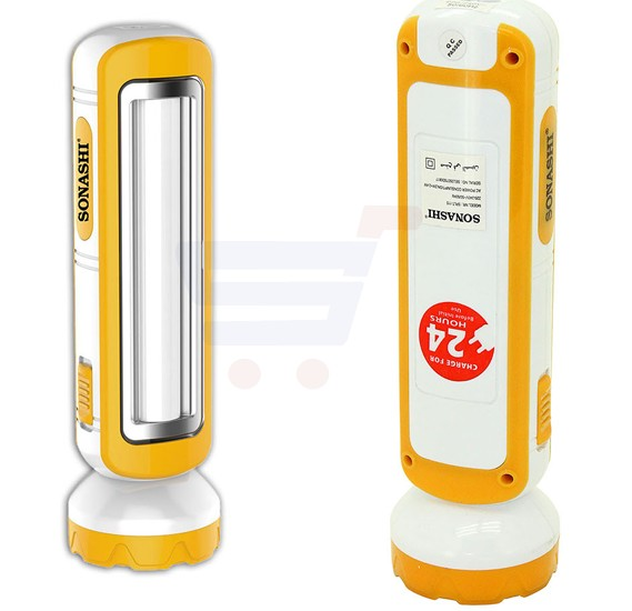 Sonashi 2 In 1 Rechargeable Led Torch With Lamp Yellow, SPLT-115