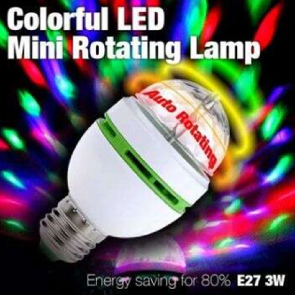 LED Mini Rotating Lamp, White Clear